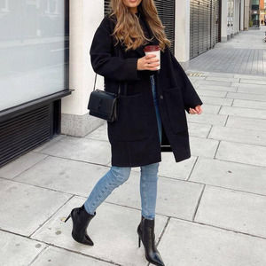 NWT TOPSHOP Relaxed Fit Black Carly Coat